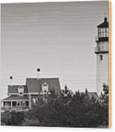 Highland Light At Cape Cod Wood Print