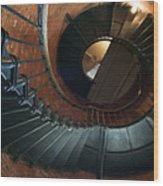 Highland Lighthouse Stairs Cape Cod Wood Print