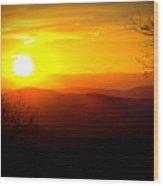 Highland Sunset Wood Print