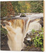 Highland Waterfall Dundonnell River Wood Print