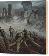 Highlanders Advancing To Caen Wood Print