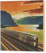 Highlands Of Hudson, Railway, Train Wood Print