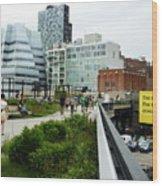 Highline Parking Wood Print