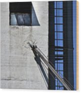 Highrise Fire Escape Wood Print