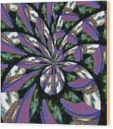 Highrise Kaleidoscope Wood Print