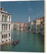 Hight Tide In Venice Wood Print