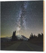 Hightway To The Stars Wood Print