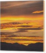 Highway 2 Sunrise Wood Print