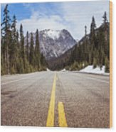 Highway 20 On Rainy Pass In North Cascades National Park Wood Print