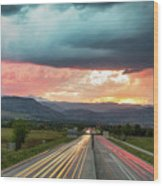 Highway 36 To Beautiful Boulder Colorado Wood Print