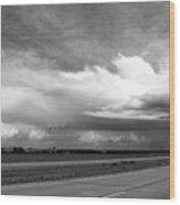 Highway 5 Clouds Wood Print
