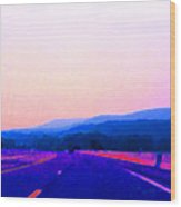 Highway In The Hills Sat Ae 2 Wood Print