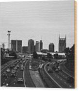 highway to Music City Wood Print