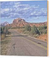 Highway To Sedona Wood Print