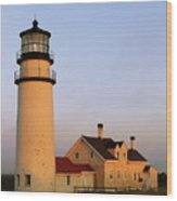 Higland Lighthouse Cape Cod Wood Print