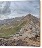 Hikers On Columbine Pass - Weminuche Wilderness - Colorado Wood Print