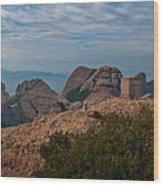 Hiking In Montserrat Spain Wood Print
