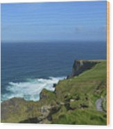 Hiking Path Along The Top Of The Cliff's Of Moher Wood Print