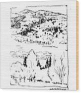 Hiking The Rockies Wood Print