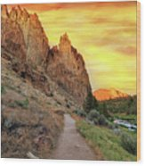 Hiking Trail At Smith Rock State Park Wood Print