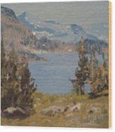 Hiking Yosemite Wood Print