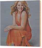 Hilary Duff Wood Print