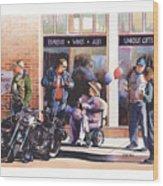 Hilda Hogs And Harleys Wood Print