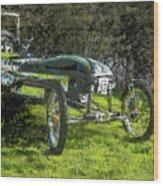Hill Climb Car Wood Print
