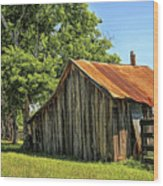 Hill Country Barn Wood Print