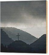 Hill Cross Wood Print