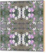Hill Of Flowers Double Wood Print