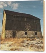 Hill Top Barn Wood Print