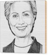 Hillary Clinton Wood Print