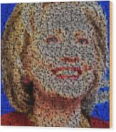 Hillary Presidents Mosaic Wood Print