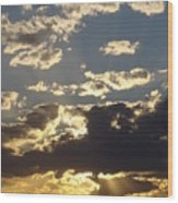 Hillcountry Sunset One Wood Print