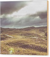Hills And Outback Tracks Wood Print