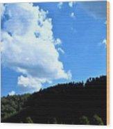 Hills And Sky Wood Print