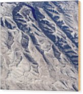 Hills And Valleys Aerial Wood Print