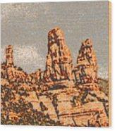 Hills In Sedona Wood Print