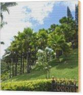 Hillside Copse Wood Print