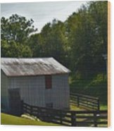 Hillside Farm  Wood Print