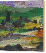 Hillside Pastures Wood Print