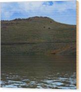 Hillside Reflection Wood Print