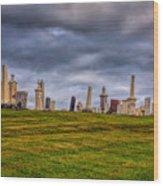 Hilltop Graveyard Wood Print