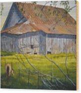 Hilltop Haven Wood Print