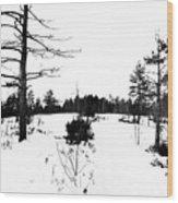 Hilltop Wood Print