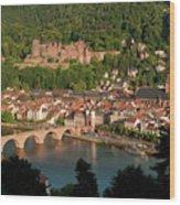 Hilltop View - Heidelberg Castle Wood Print