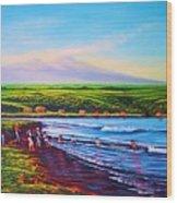 Hilo Bay Net Fisherman Wood Print
