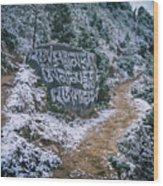 Himalayan Path Wood Print