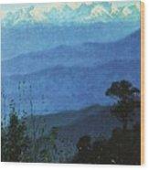 Himalayas In The Evening 1875 Vasily Vereshchagin Wood Print